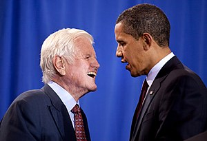 President Barack Obama and Senator Ted Kennedy...