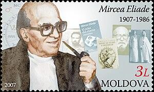 Stamp of Moldova; Mircea Eliade