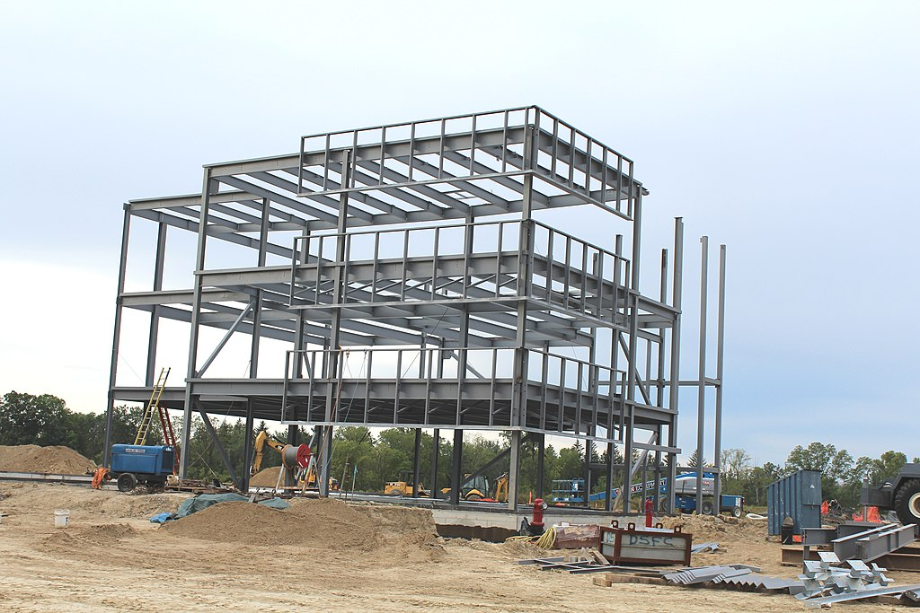 FileSteel Frame Commercial Building Under Construction