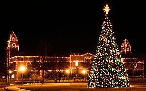 English: The Carol of Lights at Texas Tech Uni...
