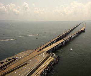 English: The Chesapeake Bay Bridge-Tunnel Fran...