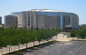 The United Center in Chicago, Illinois, home o...