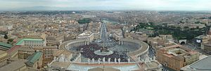 A view from Saint Peter's dome, Rome, Italy.