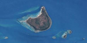 English: Wednesday Island (center) and Tuesday...