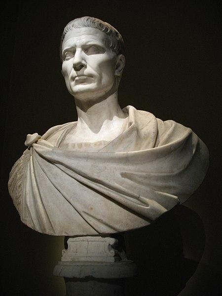 Busto di Giulio Cesare conservato al Kunsthistorisches Museum di Vienna.