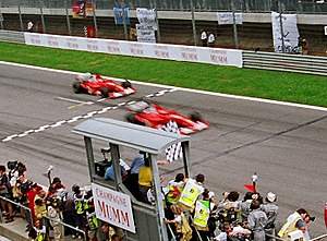 Rubens Barrichello makes way to Michael Schuma...
