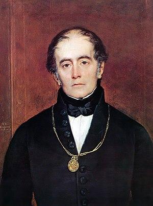 Andrés Bello, painting by Raymond Monvoisin.