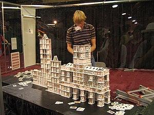 Guinness World Record cardstacker Bryan Berg