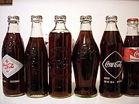 Picture of a coca cola collection