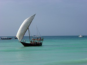 Teams rode on a dhow in three or four separate...
