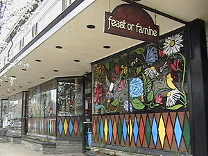 English: Feast or Famine Restaurant Photo take...
