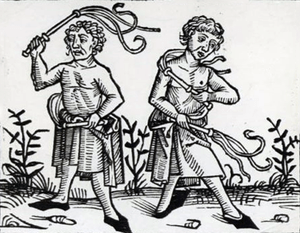 Flagellants practiced self-flogging at the tim...