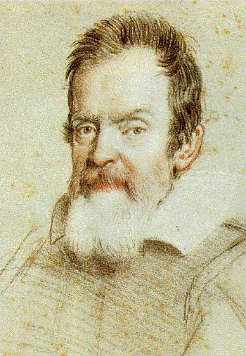 Galileo Galilei. Portrait by Ottavio Leoni. De...