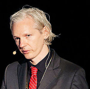 English: Julian Assange at New Media Days 09 i...
