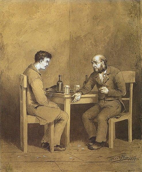File:Klodt Michail Petrovich - Raskolnikov and Marmeladov.jpg