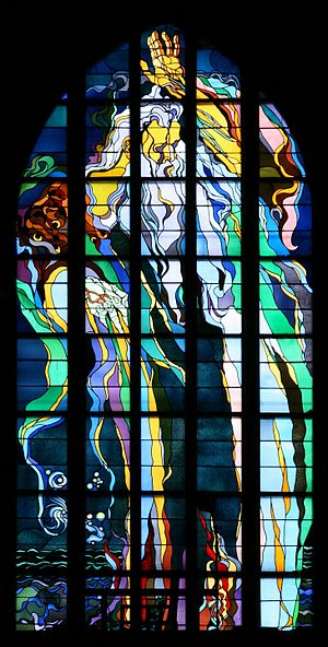 Stained glass window made by Stanisław Wyspiań...