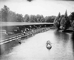 Canoes at Phalen Lake, St. Paul, Minnesota, 1905.