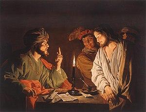 Matthias Stom's depiction of Jesus before Caia...