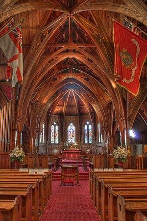 Inside Old Saint Pauls church, Wellington, New...