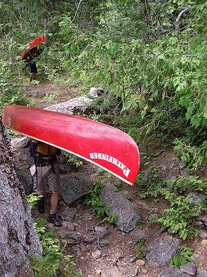 Camp Pathfinder Canoe Petawawa River Portage