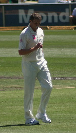 Peter Siddle, at the SCG vs. South Africa in J...
