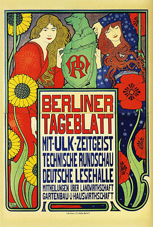 English: Poster for the newspaper Berliner Tag...