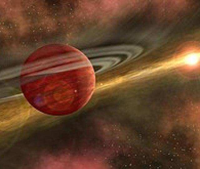 Dans Cette Vue Dartiste La Planete Geante Tourne Dans Un Espace Vide Du Disque Protoplanetaire Dune Etoile
