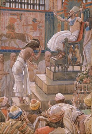 English: Joseph and His Brethren Welcomed by P...