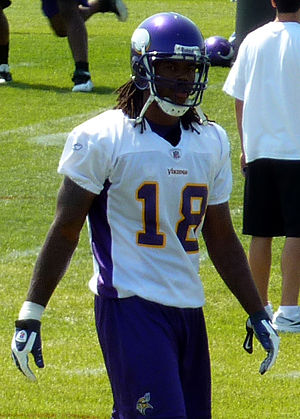 Sidney Rice, while a member of the Minnesota V...