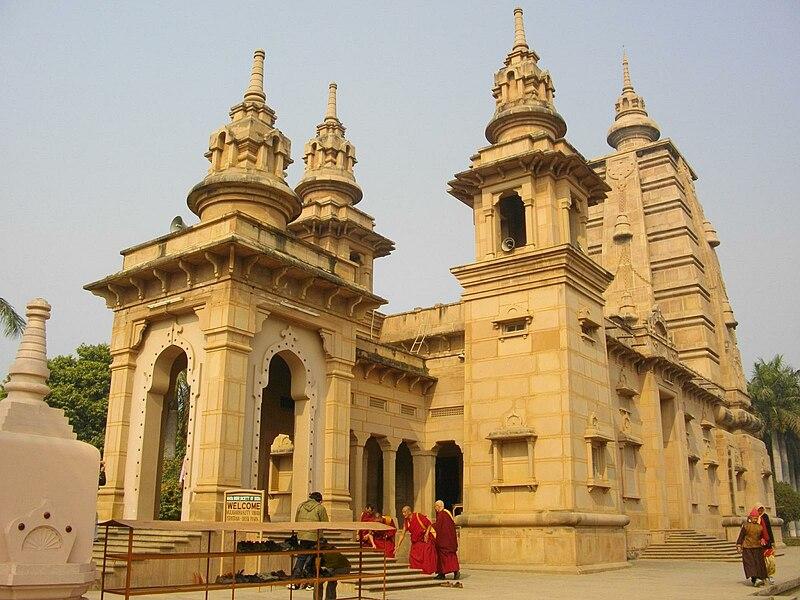 File:A Buddhist temple at Sarnath.jpg