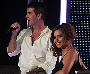 English: Simon Cowell and Cheryl Cole during f...