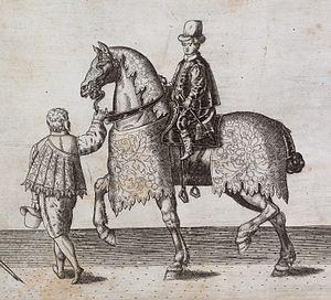 English: Detail from Thomas Lant's engraving, ...