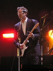 Clapton at the Tsunami Relief concert, 2005