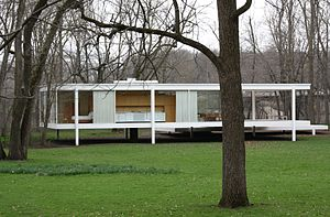 English: Farnsworth House (Illinois) by Mies v...