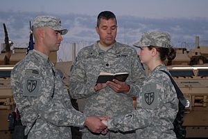 Flickr - The U.S. Army - Soldiers share name tags