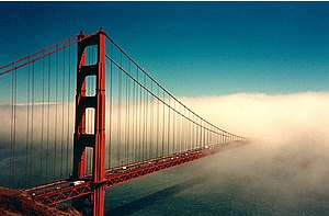 The Golden Gate Bridge in San Francisco, CA.