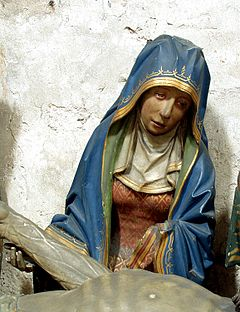 Gross St Martin - Grablegungsgruppe - Maria (virgin mary)
