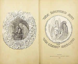"English: Frontispiece of ""The Haunted Man..."