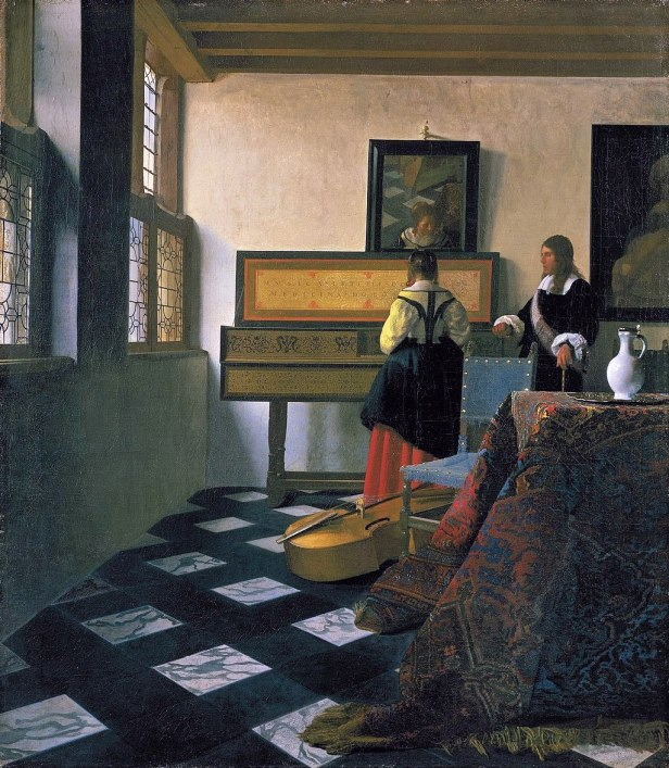 """Lady at the Virginal with a Gentleman"", 'The Music Lesson' by Johannes Vermeer"