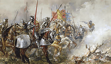 King Henry V at the Battle of Agincourt, 1415.