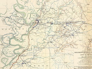 Map of the country between Milliken's Bend, La...
