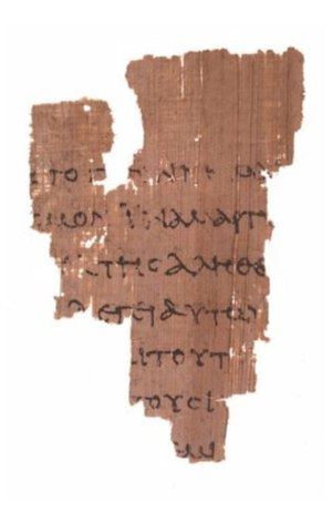 The verso of Rylands Library Papyrus P52 from ...