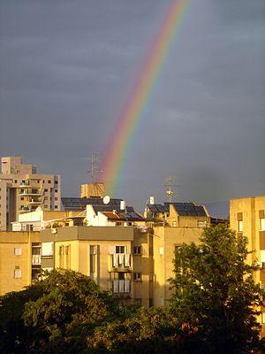 Rainbow in Israel