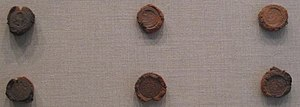 Roman molds used for forging coins at the Metr...