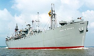 SS John W. Brown on the Great Lakes in 2000. J...