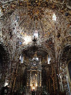 Interior de la Iglesia de Santa Mara Tonantzintla