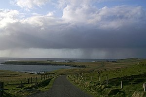 English: Showers passing the Westing Rain show...