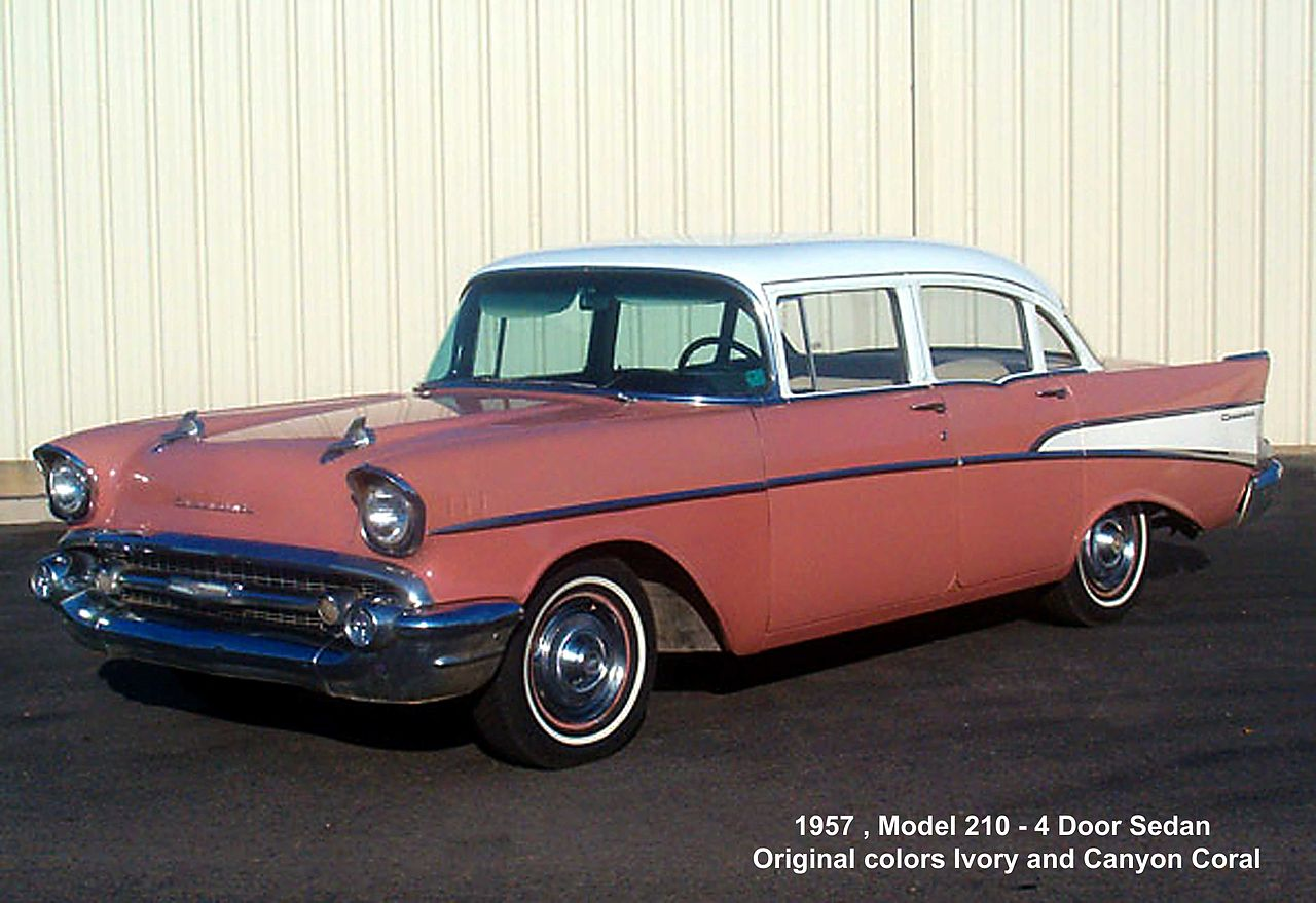 1957 Chevy Air Bel 2dr Post