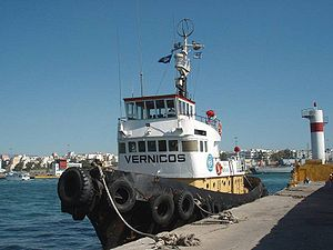Tug boat Agia Varvara at Krakari Jetty, Piraeu...