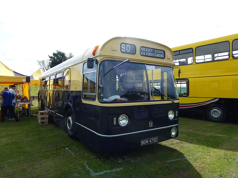 File:Birmingham City Transport bus 3472 (BON 472C). 2012 Trans Lancs rally.jpg - Wikimedia Commons